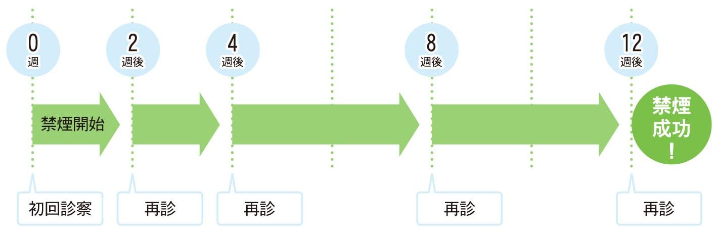 図:禁煙治療のスケジュール